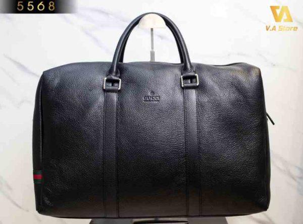Túi Da Nam Du Lịch Da Cao cấp Gucci 5568 Đen