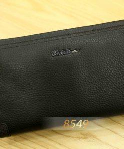 Ví clutch cầm tay đẹp có dây da Balidiya 85493 Đen