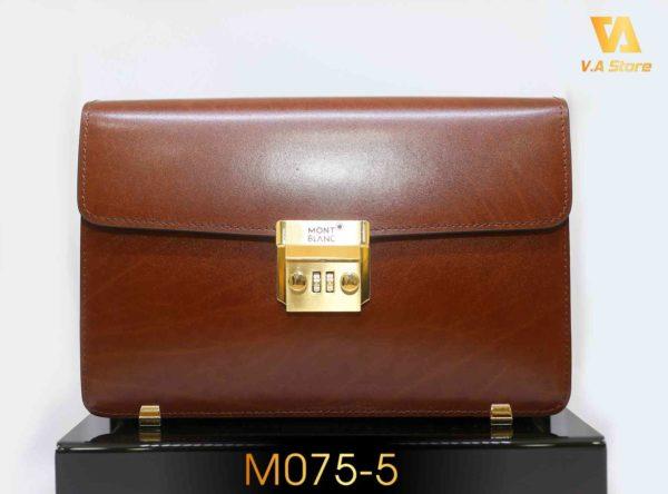 Ví Clutch MontBlanc nắp gập khóa vàng M0755