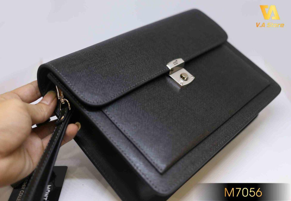 Clutch cầm tay nam hàng hiệu giá tốt MontBlanc M7056
