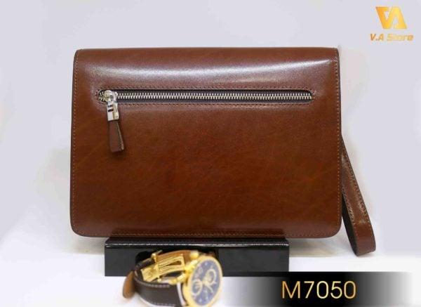 Ví Clutch MontBlanc nắp gập khóa cao cấp M7050