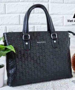 Cặp da Công sở hàng hiệu chính hãng Gucci 000002 Đen