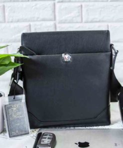 Túi đeo chéo Nam Da Cao cấp Balidiya 45201 Đen