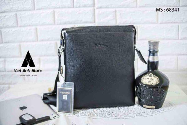 Túi đeo chéo da thật Balidiya B68341 Đen