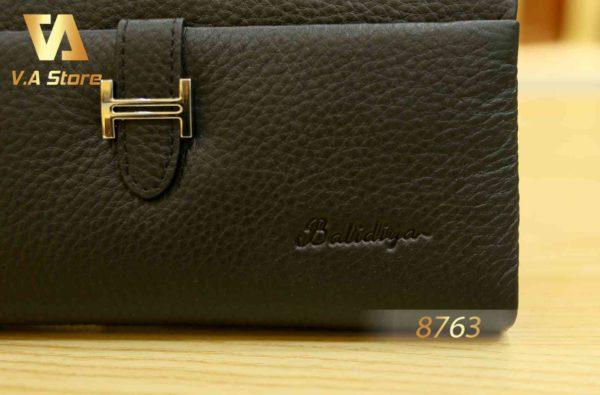 Ví Clutch cầm tay khóa kéo cao cấp Balidiya B87631 Đen