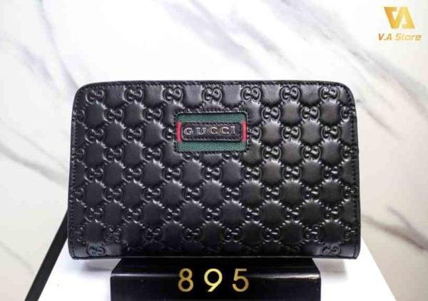 Ví clutch da thật cao cấp hàng hiệu Gucci 895