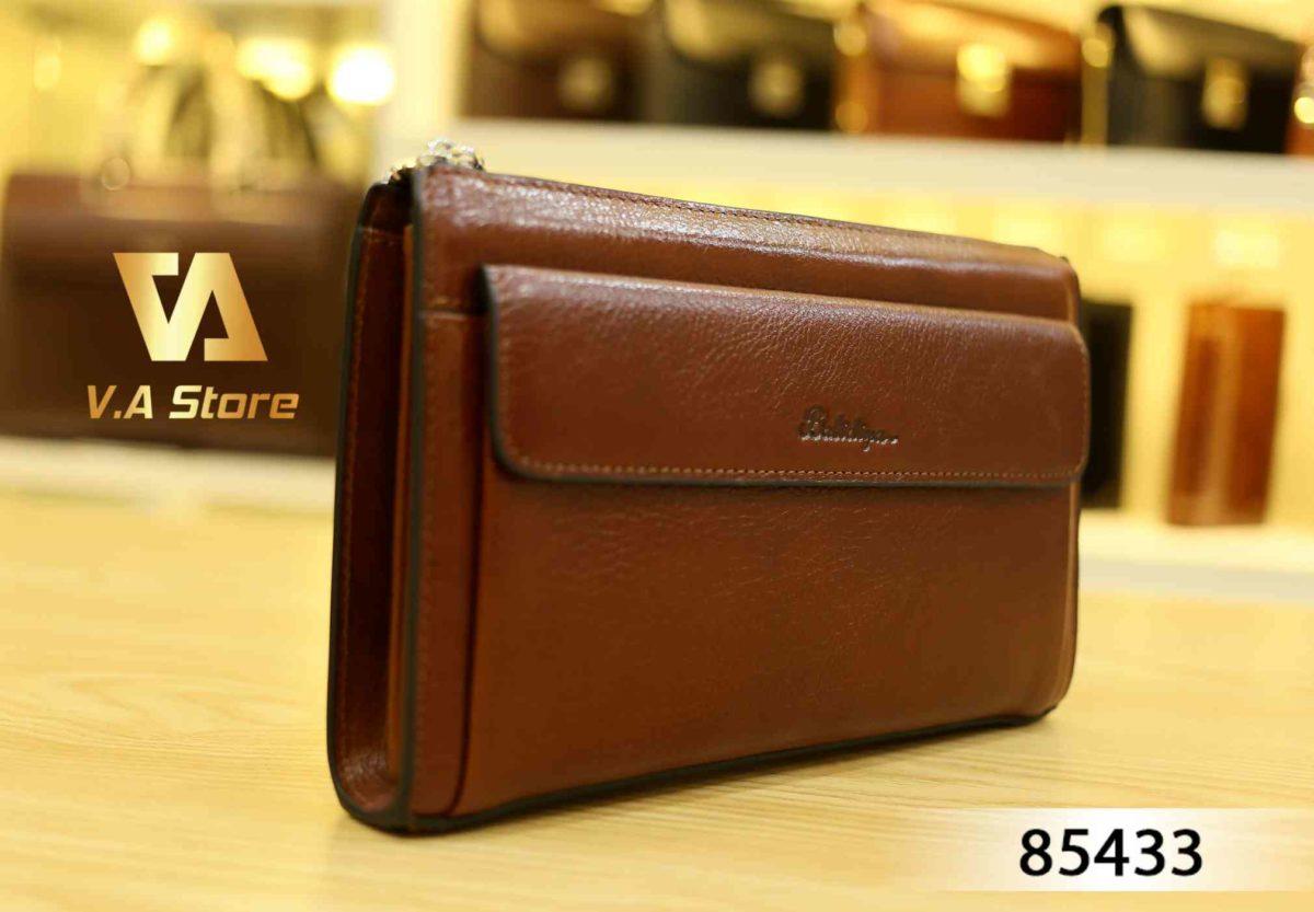 Clutch bag cho Nam hiệu Balidiya 85433 Đen - Nâu