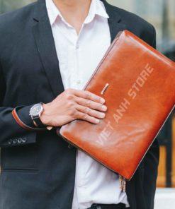 Clutch cầm tay nam sang trọng MontBlanc 2048 Đen