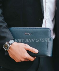 Clutch cầm tay giá hấp dẫn Balidiya 8580 Xanh - Đen