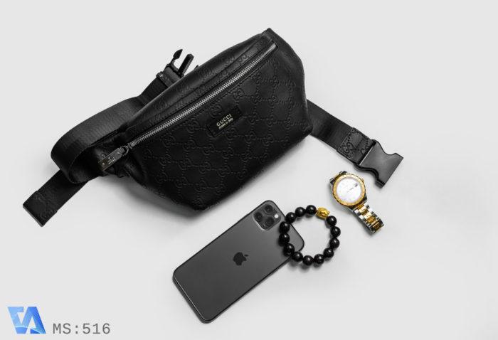 Túi đeo chéo nam da cao cấp Gucci 516