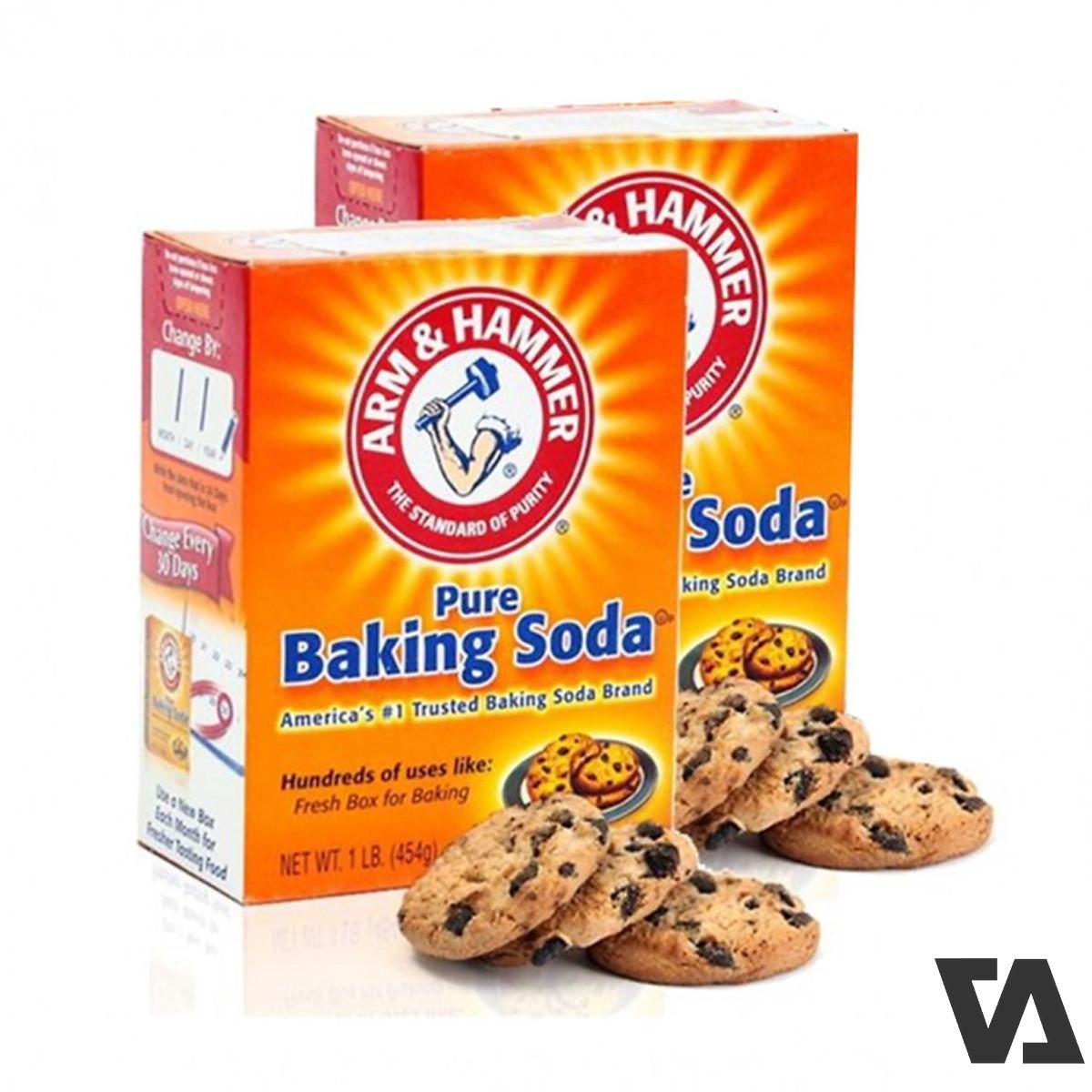 Baking Soda sẽ từ từ hút hết lượng dầu mỡ trên bề mặt da